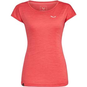 SALEWA Puez Melange Dry SS T-shirt Damer, rød